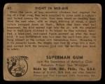 1940 Gum Inc. Superman #43   Fight in Mid-Air Back Thumbnail