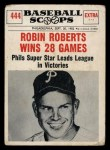 1961 Nu-Card Scoops #444   Robin Roberts   Front Thumbnail