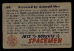 1951 Bowman Jets Rockets and Spacemen #68   Released by Asteroid Men Back Thumbnail