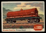 1955 Topps Rails & Sails #14   Wooden Tank Car Front Thumbnail