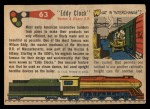 1955 Topps Rails & Sails #63   Eddy Clock Back Thumbnail
