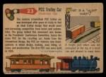 1955 Topps Rails & Sails #23   PCC Trolley Car Back Thumbnail
