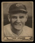 1940 Play Ball #170  Tris Speaker  Front Thumbnail