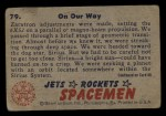 1951 Bowman Jets Rockets and Spacemen #79   On Our Way Back Thumbnail