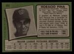 1971 Topps #497  Horacio Pina  Back Thumbnail