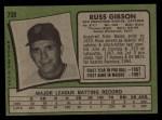 1971 Topps #738  Russ Gibson  Back Thumbnail