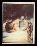 1950 Topps Freedoms War #82   Burning Tank   Front Thumbnail