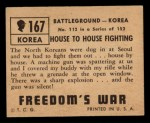 1950 Topps Freedoms War #167   House to House Fighting  Back Thumbnail