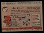 1958 Topps #58 ^WT^ Art Schult  Back Thumbnail