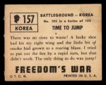 1950 Topps Freedoms War #157   Time to Jump  Back Thumbnail