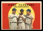 1959 Topps #147   -  Ernie Banks / Dale Long / Walt Moryn Cubs Clubbers Front Thumbnail