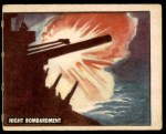 1950 Topps Freedoms War #152   Night Bombardment  Front Thumbnail