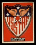 1950 Topps Freedoms War #190   U.S. Strategical and Tactical  Front Thumbnail