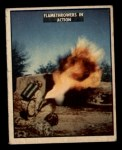 1950 Topps Freedoms War #107   Flame Throwers in Action  Front Thumbnail