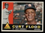 1960 Topps #275  Curt Flood  Front Thumbnail