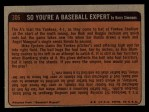 1972 Topps #306   -  Ken Boswell In Action Back Thumbnail
