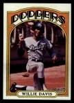 1972 Topps #390  Willie Davis  Front Thumbnail