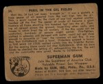 1940 Gum Inc. Superman #34   Peril in the Oil Fields Back Thumbnail