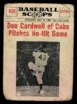 1961 Nu-Card Scoops #410   Don Cardwell   Front Thumbnail