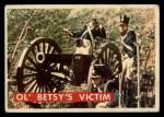 1956 Topps Davy Crockett #57 GRN  Ol' Betsy's Victim  Front Thumbnail