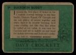 1956 Topps Davy Crockett #1 GRN  Buckskin Buddy  Back Thumbnail