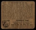 1940 Gum Inc. Superman #50   At the Bottom of the Sea Back Thumbnail
