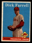 1958 Topps #76 WT Dick Farrell  Front Thumbnail