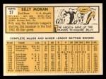 1963 Topps #57  Billy Moran  Back Thumbnail