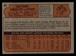 1972 Topps #68  Jim York  Back Thumbnail