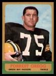 1963 Topps #89  Forrest Gregg  Front Thumbnail