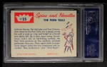 1960 Fleer Spins and Needles #25  The Poni Tails  Back Thumbnail