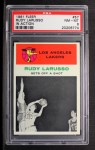 1961 Fleer #57   -  Rudy LaRusso In Action Front Thumbnail