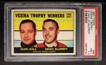 1967 Topps #65   -  Glen Hall / Denis DeJordy Vezina Trophy Front Thumbnail