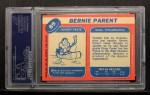 1968 Topps #89  Bernie Parent  Back Thumbnail