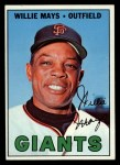 1967 Topps #200  Willie Mays  Front Thumbnail