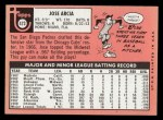 1969 Topps #473 *WN* Jose Arcia  Back Thumbnail