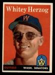 1958 Topps #438  Whitey Herzog  Front Thumbnail