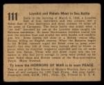 1938 Gum Inc. Horrors of War #111   Loyalists and Rebels meet in Sea Battle Back Thumbnail