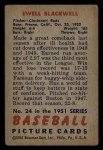 1951 Bowman #24  Ewell Blackwell  Back Thumbnail