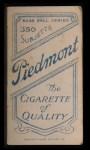 1909 T206  Don Moeller  Back Thumbnail