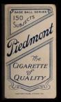 1909 T206  Jiggs Donahue  Back Thumbnail