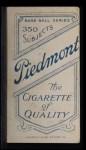 1909 T206  Jerry Freeman  Back Thumbnail