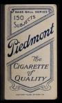1909 T206 STL Al Shaw  Back Thumbnail