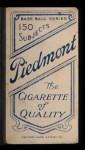 1909 T206 FLD Rube Oldring  Back Thumbnail