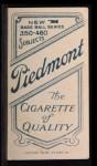 1909 T206 GLV Jimmy Sheckard  Back Thumbnail