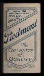 1909 T206  Francis Pfeffer  Back Thumbnail