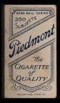 1909 T206 POR Lou Fiene  Back Thumbnail