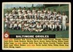 1956 Topps #100 CEN  Orioles Team Front Thumbnail