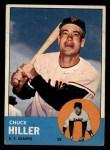 1963 Topps #185 ^COR^ Chuck Hiller  Front Thumbnail