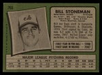 1971 Topps #266  Bill Stoneman  Back Thumbnail